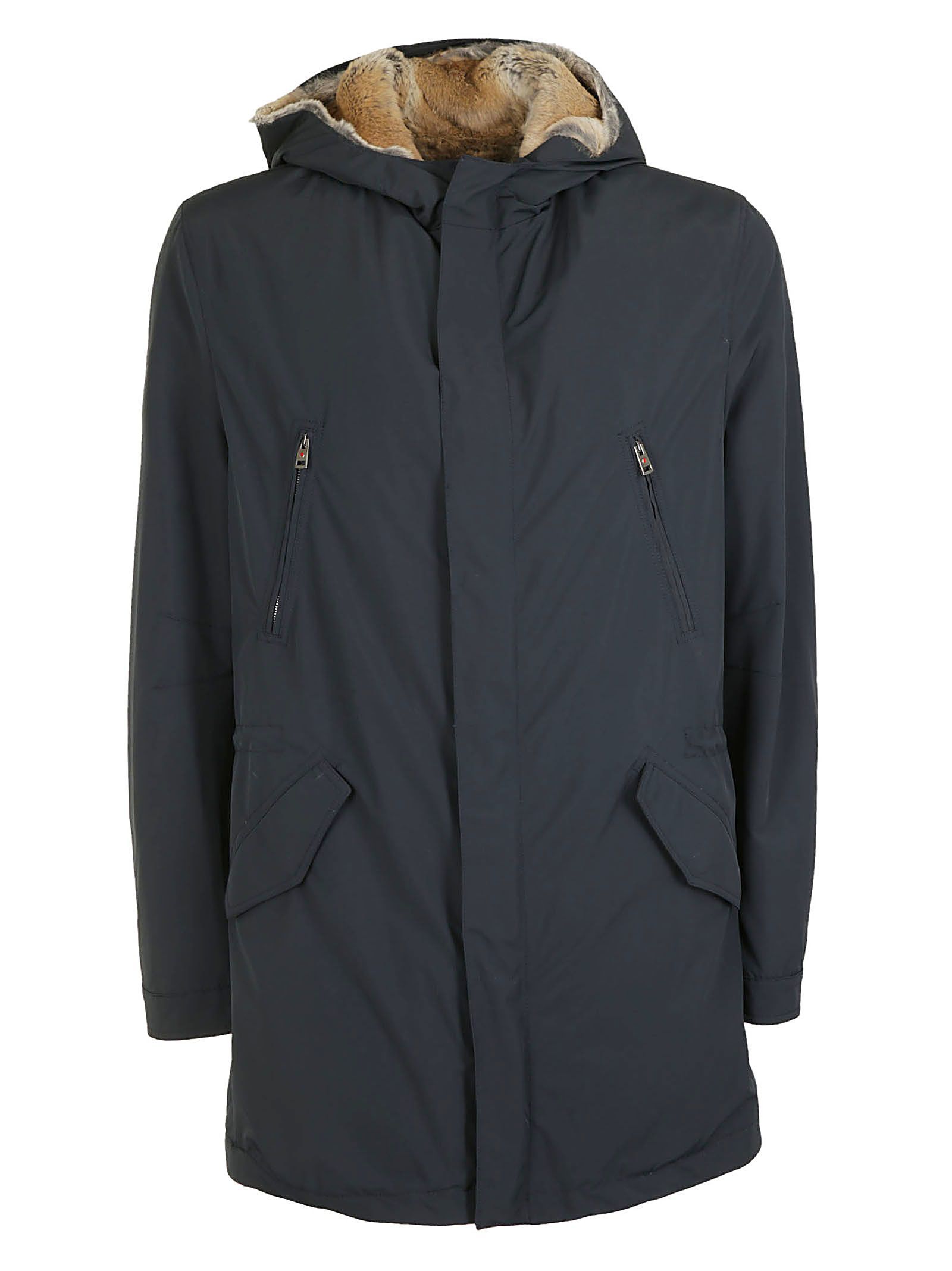 KIRED Hooded Coat in Black