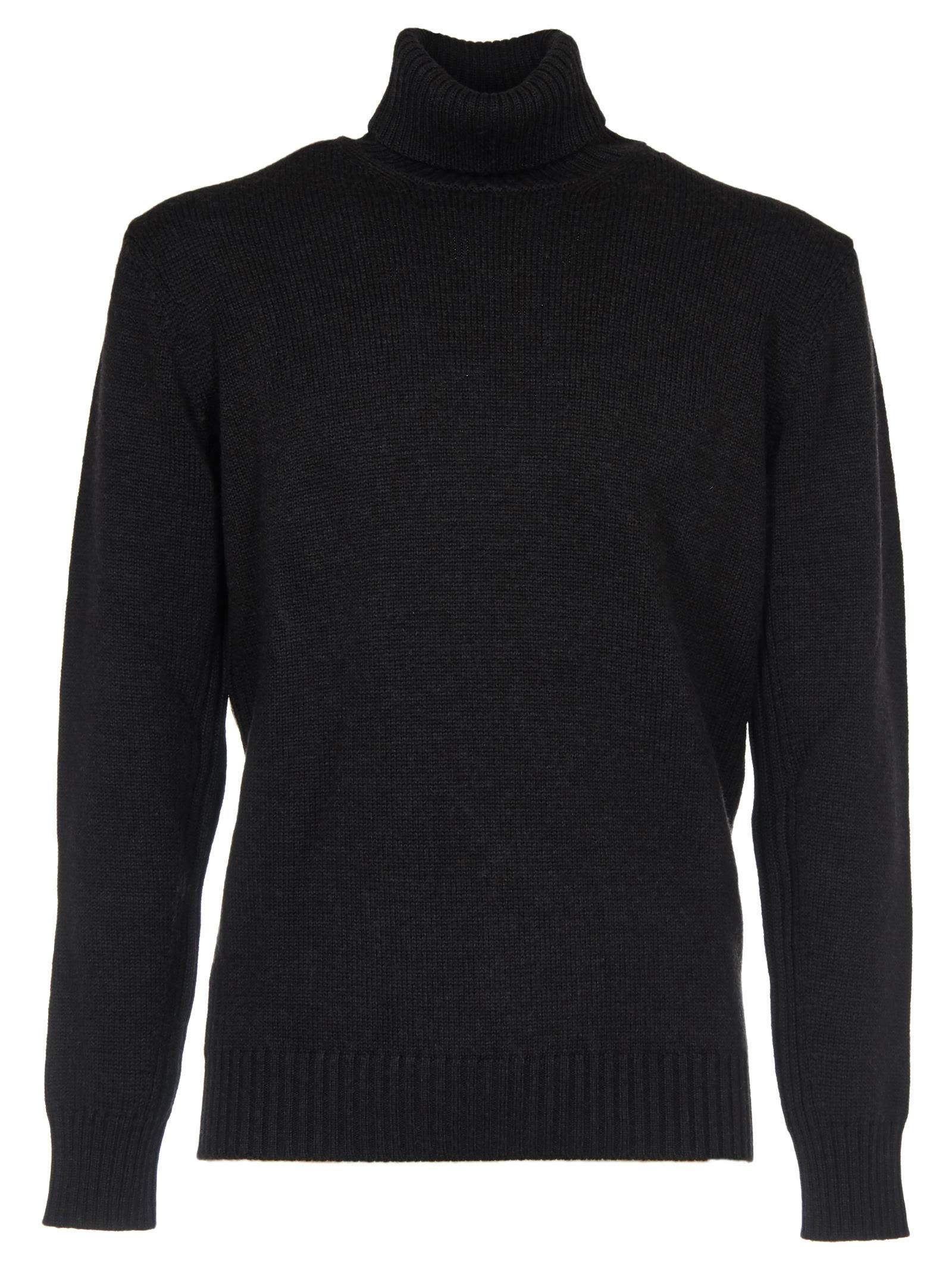 KANGRA Roll Neck Sweater in Coal