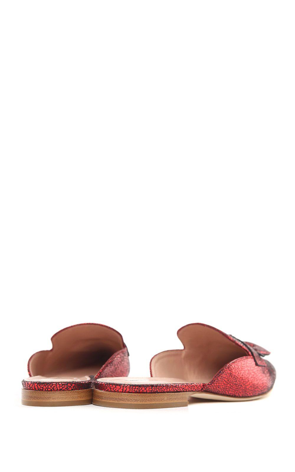 Mia metallic-leather backless loafers Alberta Ferretti Free Shipping Lowest Price VmOGKKbq