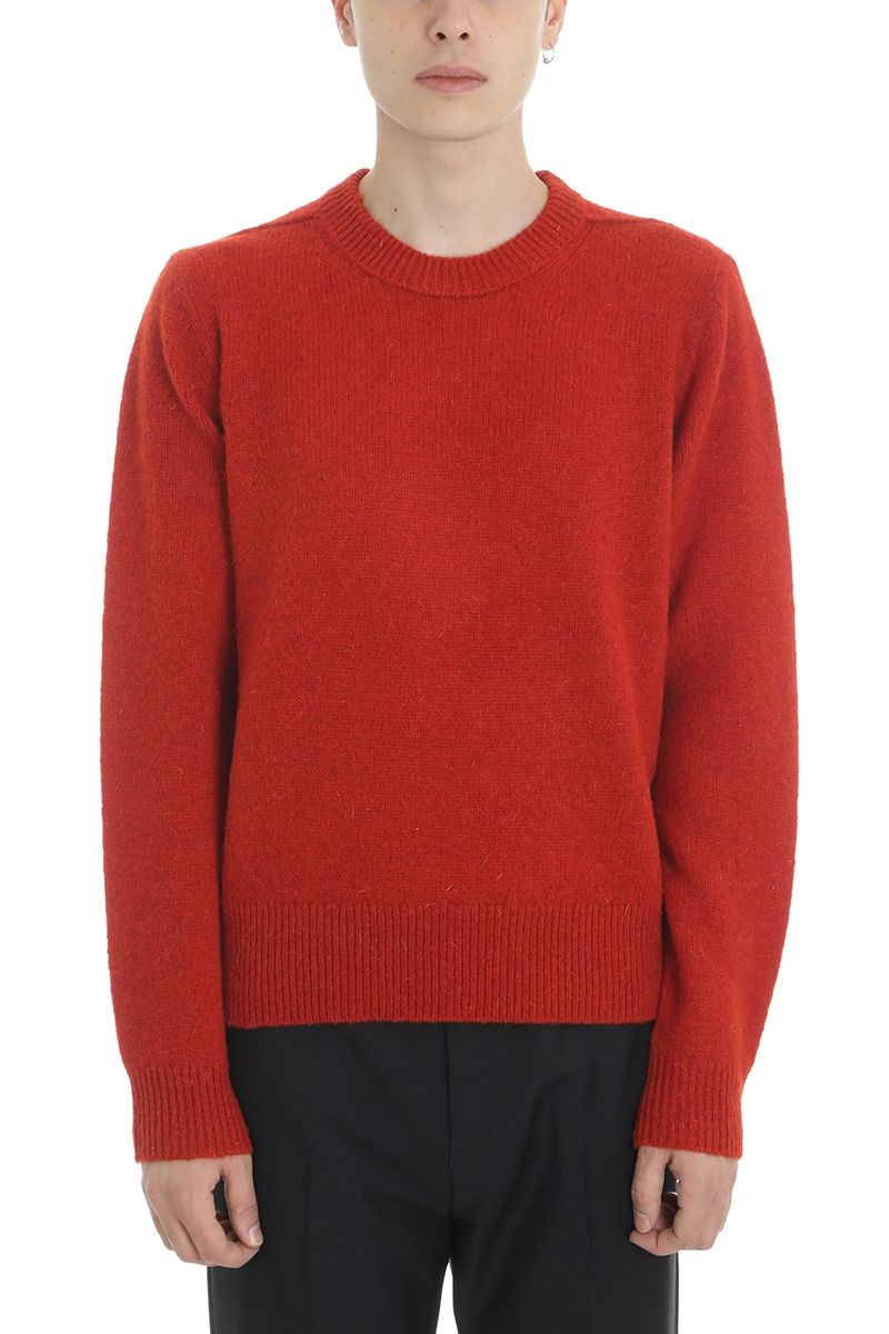 ACNE STUDIOS RED WOOL SWEATER