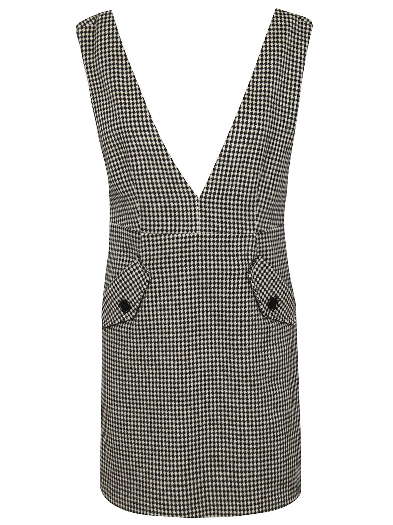 TARA JARMON Checked Dress in Noir