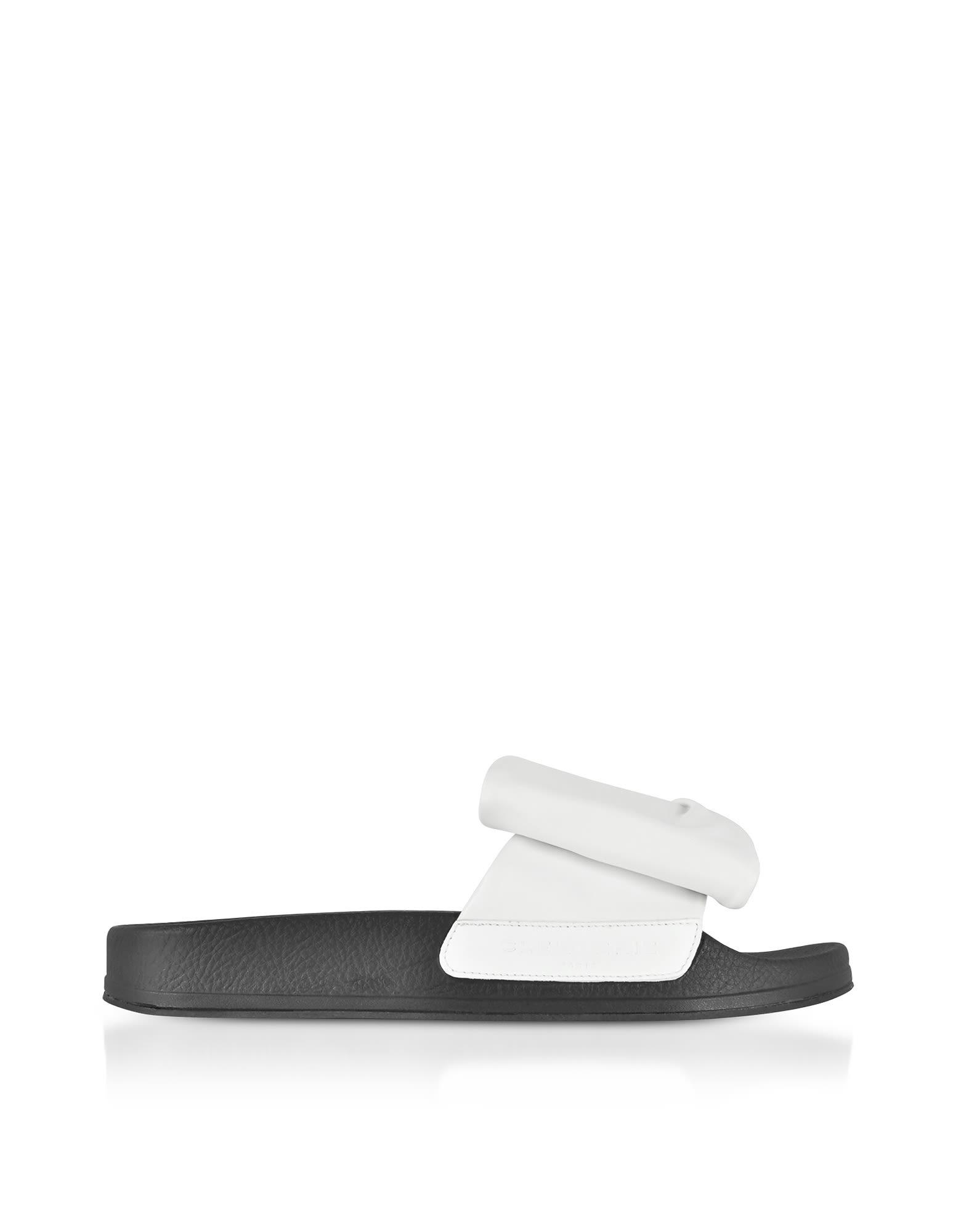 Robert Clergerie Designer Shoes, Wendy Leather Slide Sandals w/ Sole