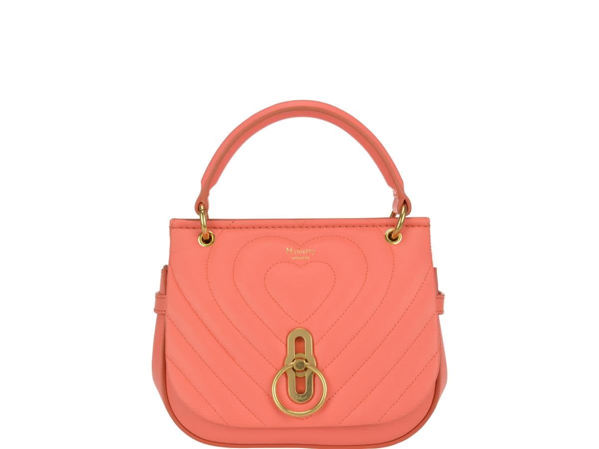 Small Amberley Satchel in Coral