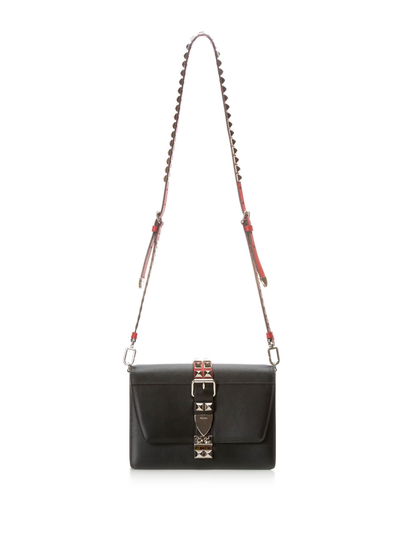 7c19a737f8f2 Prada Elektra Calf Leather Bag In Nero Fuoco | ModeSens