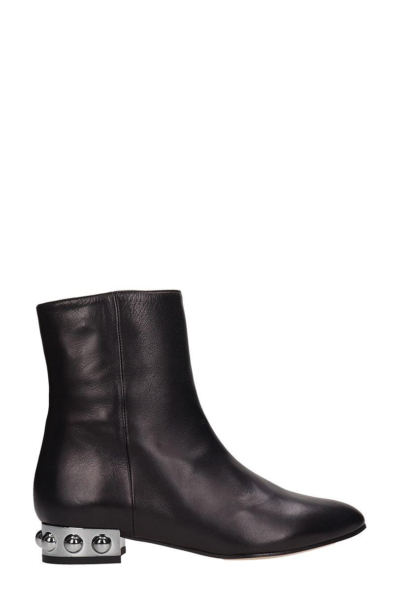 29ca58c2626d Marc Ellis Black Leather Ankle Boots - black ...