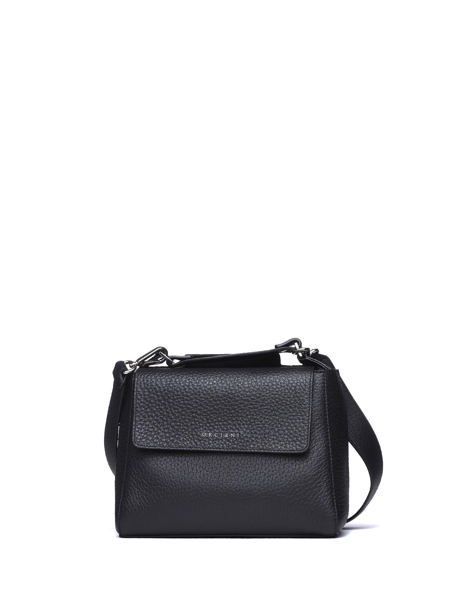 Orciani Sveva Small Leather Handbag - NERO ... b1371b32d775b