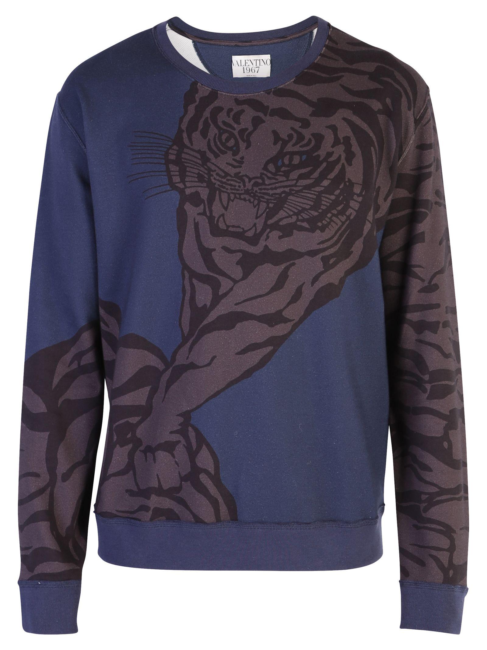 eaf897acc3 Valentino Blue Tiger Print Sweatshirt - Blue ...