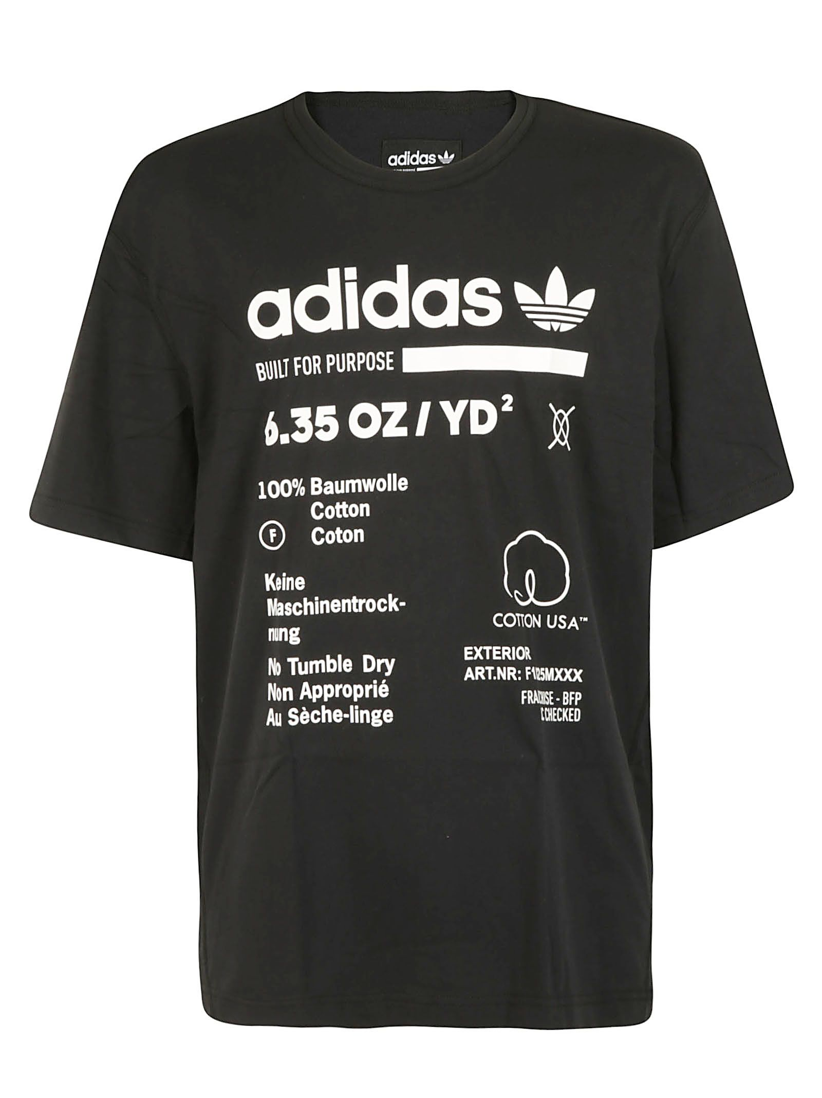 Black T Adidas Originals Shirt Printed rIqwUIxRE