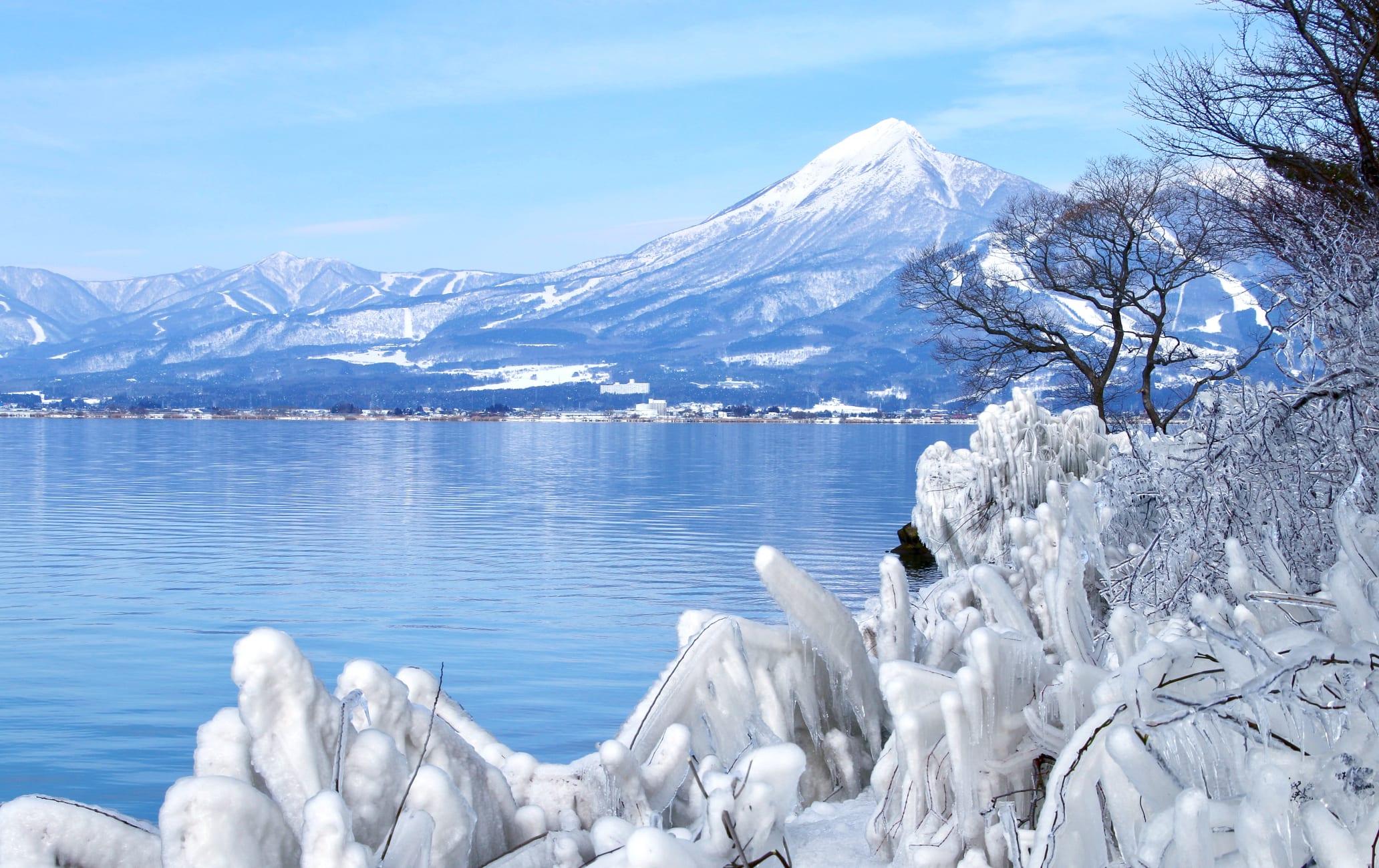 lake inawashiro-ko area