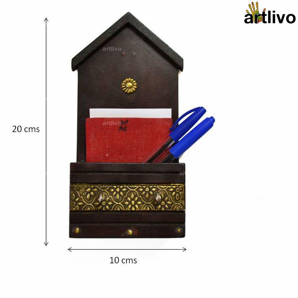 Brass Brown Envelope & Key Holder