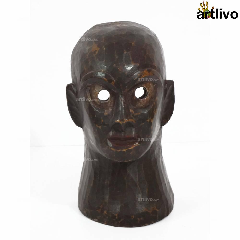 VINTAGE Tribal Story Mask - Hero - MA034