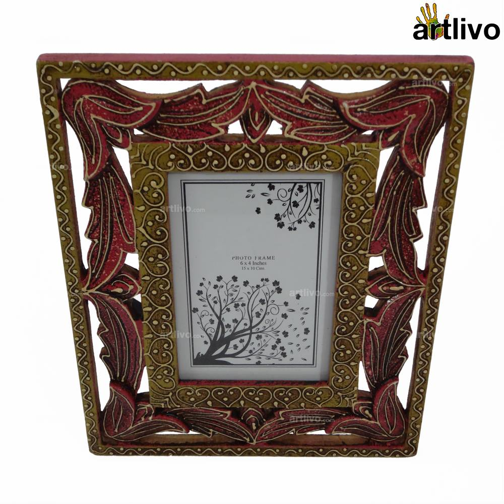 EMBOSSED Carved Photo Frame - Magenta