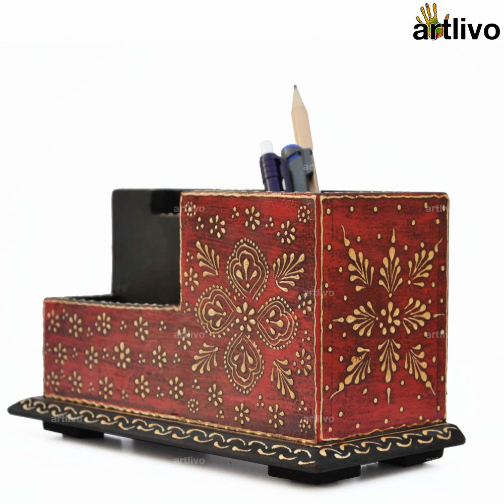 BOLD RED Compact Table Organiser