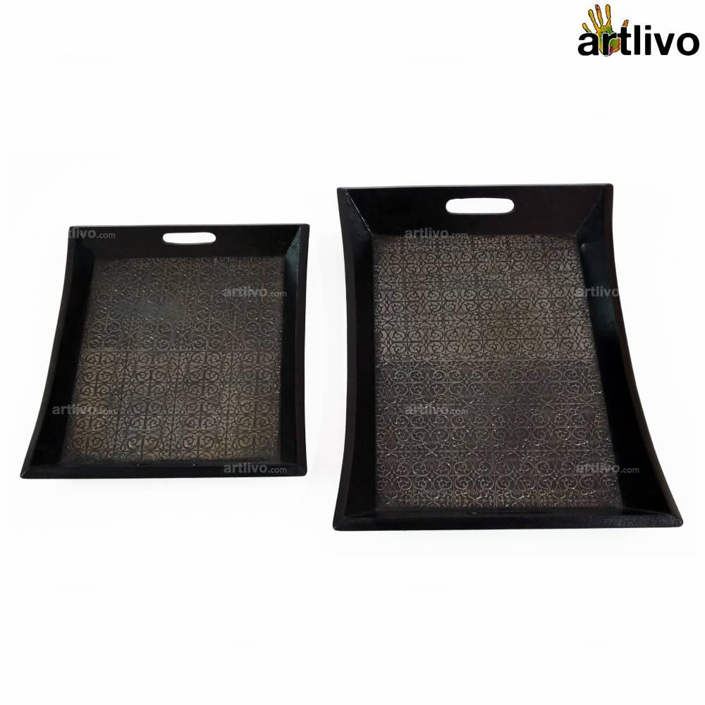 UBER ELEGANT Iron Tray, Set of 2