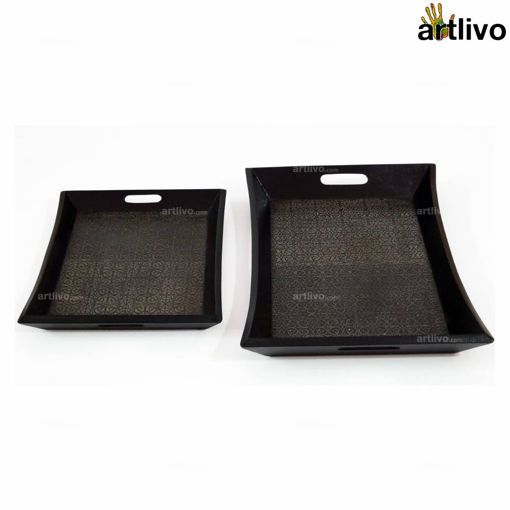 UBER ELEGANT Iron Tray, Set of 2