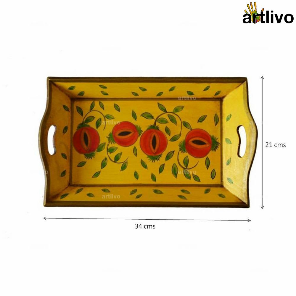 POPART Wooden Serving Tray - Yellow