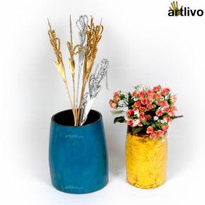 VINTAGE Colored Grain Measuring Bowl Set, Set of 2