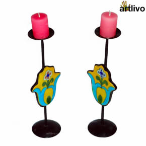Yellow Motif Candle Set