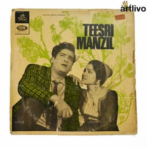 VINTAGE Gramophone Record - Teesri Manzil (With Cover)