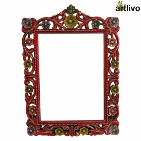 BOLD RED Mirror Frame