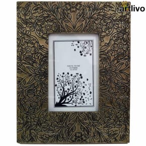 BLING Floral Photo Frame