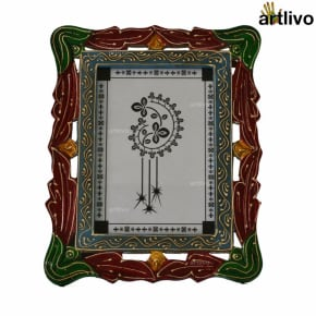 """EMBOSSED Carved Photo Frame - Red - 5*7"""""""