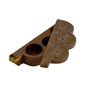 Wooden old type spice box cum candle stand
