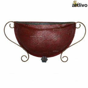 Wall Hanging Jaali Magazine Holder - Red
