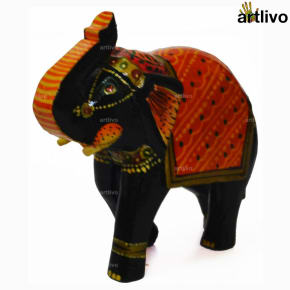 POPART Wooden Decorative Elephant Showpiece - Designer