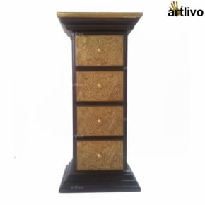 BLING 4 Drawer Pillar Table - TA041