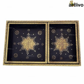 EMBOSSED 3pc Tray Set