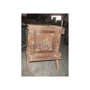 Old Indian Carved Rich Solid Wood small storage Trunk