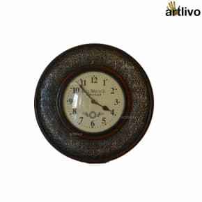 Wooden Round Carved Wall Clock