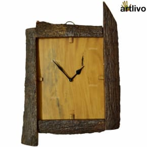 ECOLOG Raw Rustic Wood Wall Clock