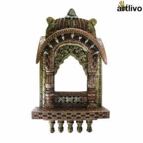 "EMBOSSED 27"" Decorative Copper Jharokha"