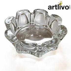 Glass Flower shaped ashtray