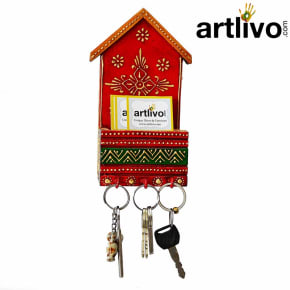 Red Multi Color Envelope And Key Holder