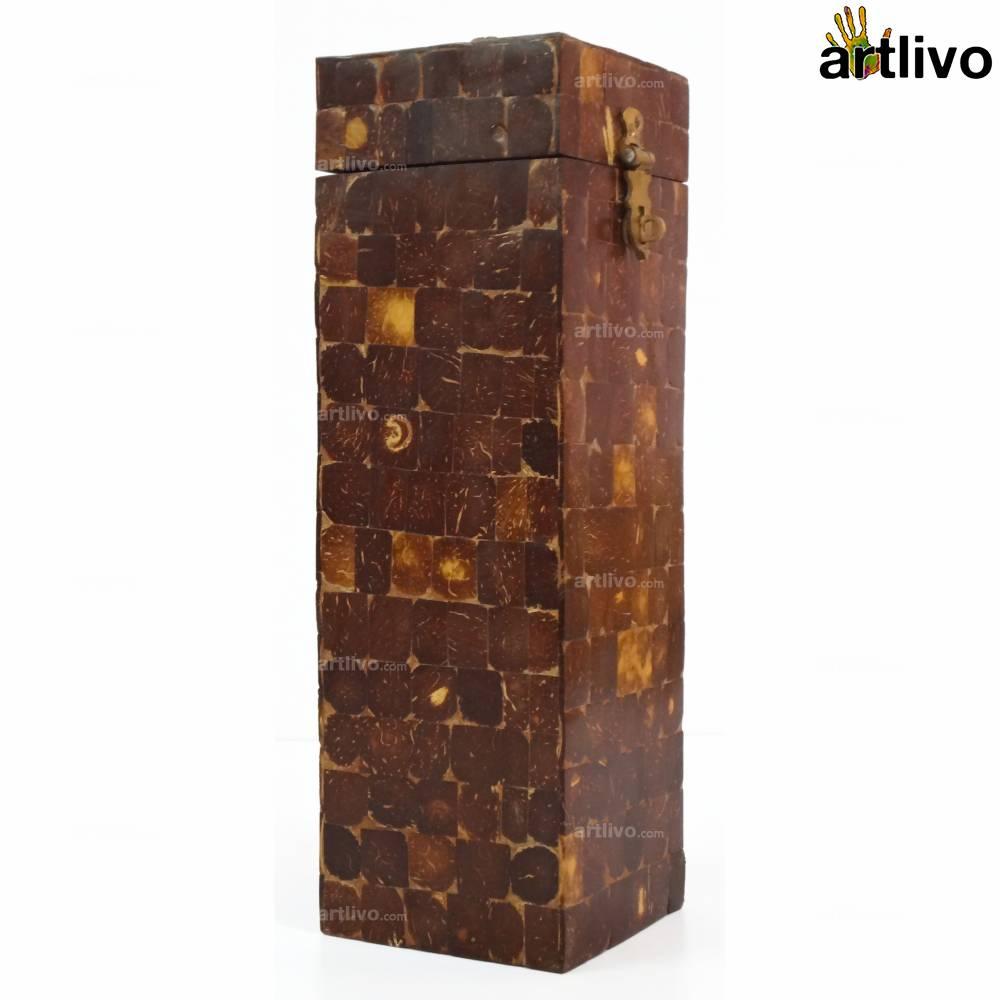 Tribal Coconut Shell Wine Box