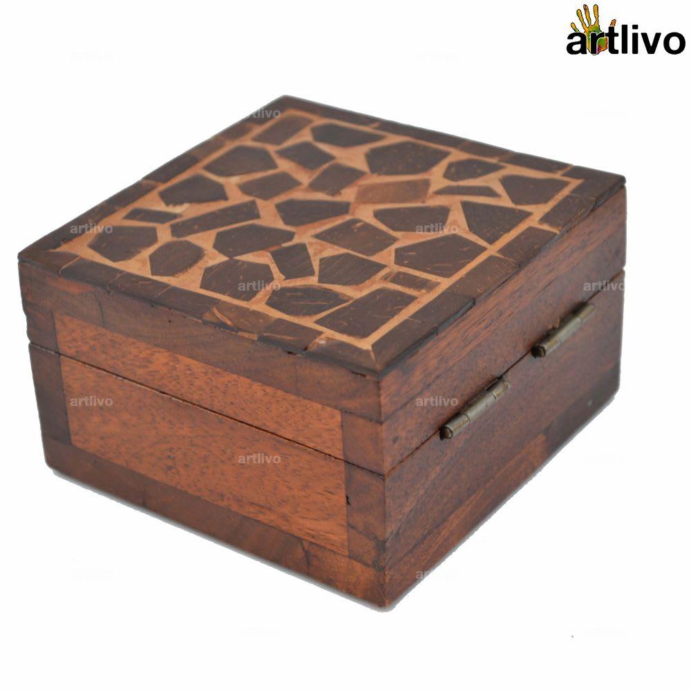 Coconut Shell Box - Square