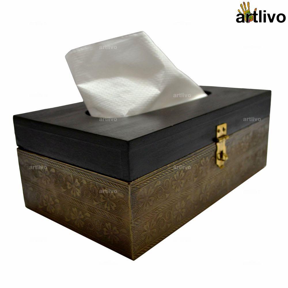 Black Antique Look Tissue Box