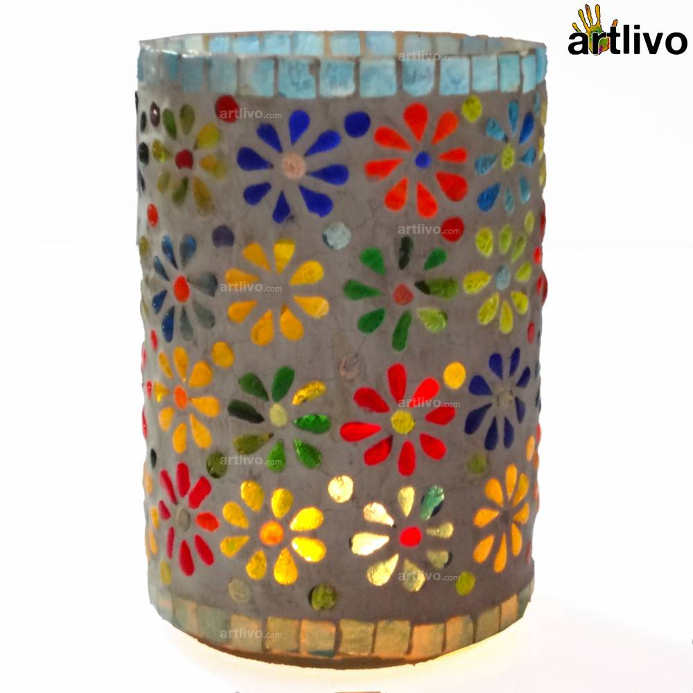 POPART Glass Mosaic Candle Holder