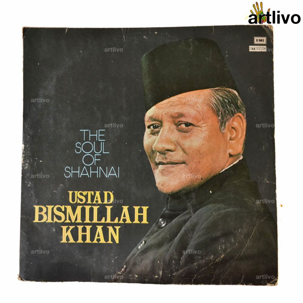 VINTAGE Gramophone Record - USTAD BISMILLAH KHAN (With Cover)