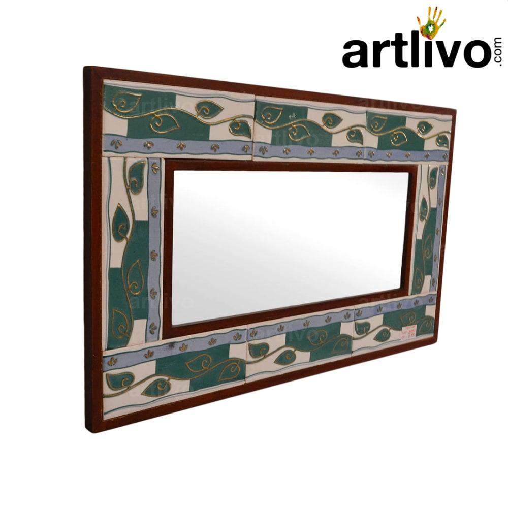 Green Small Tile Mirror