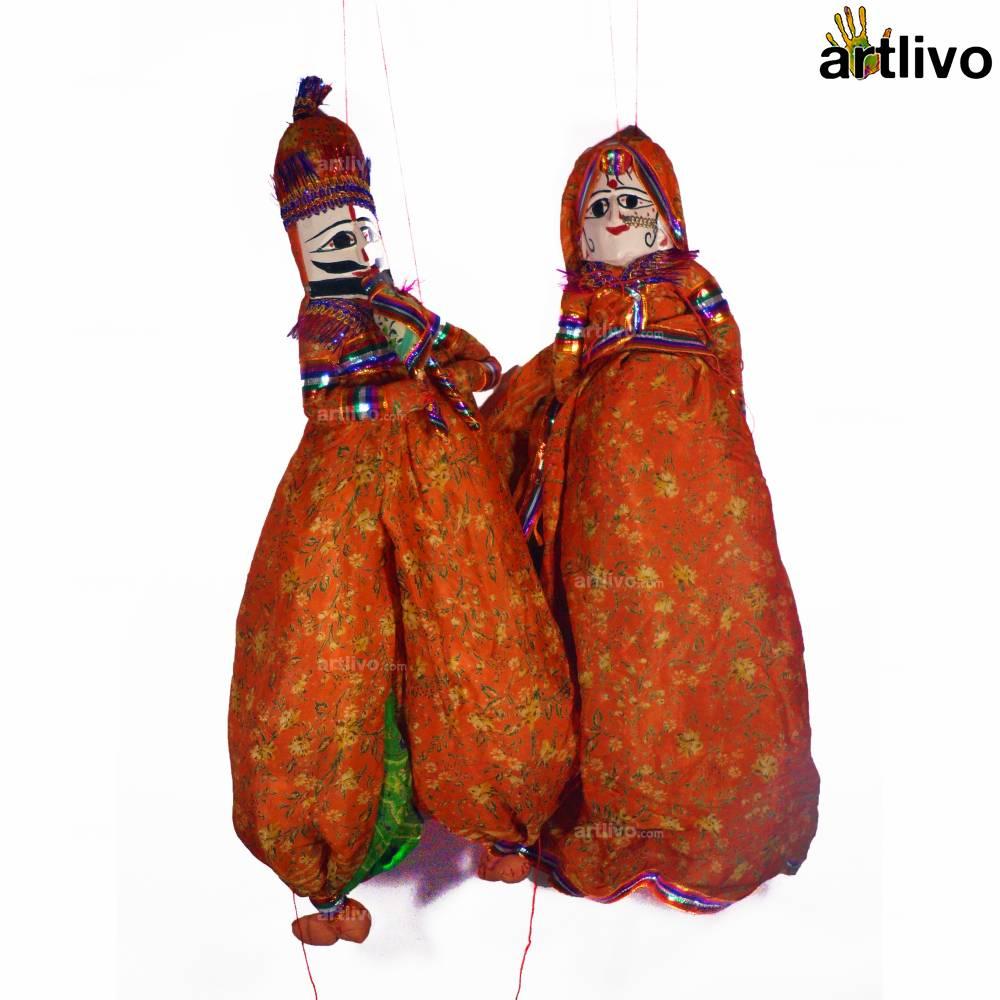 POPART Orange Kathputli (Puppet)