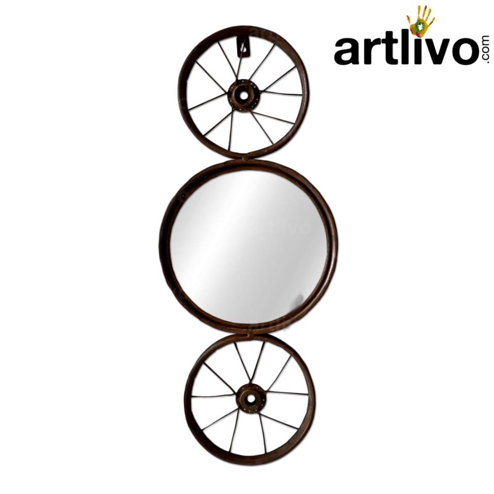 Iron cycle rim mirror