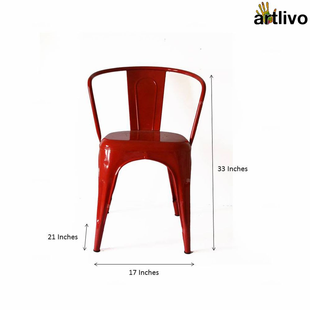 POPART French Red Arm Chair