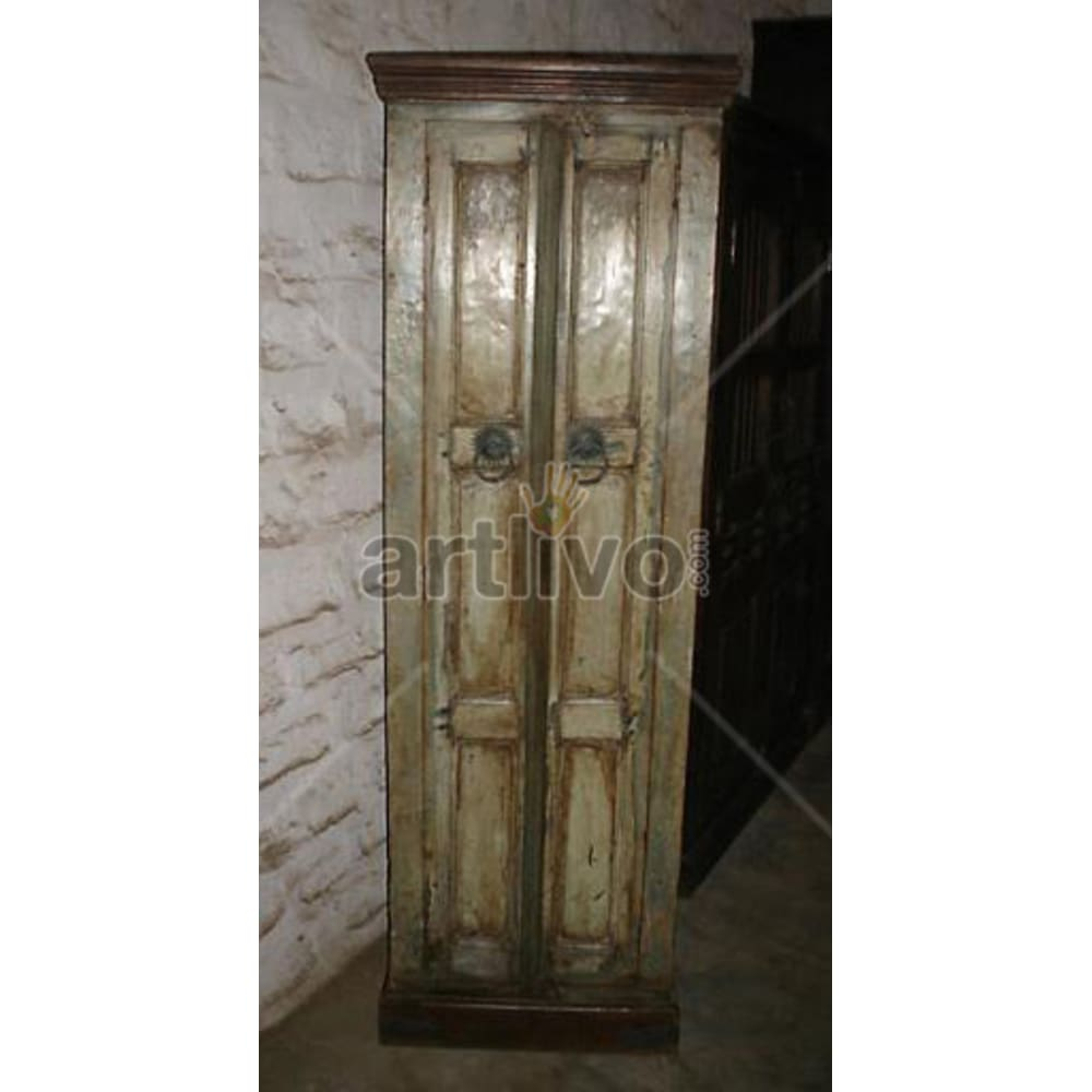 Antique Indian Sculptured noble Solid Wooden Teak Almirah