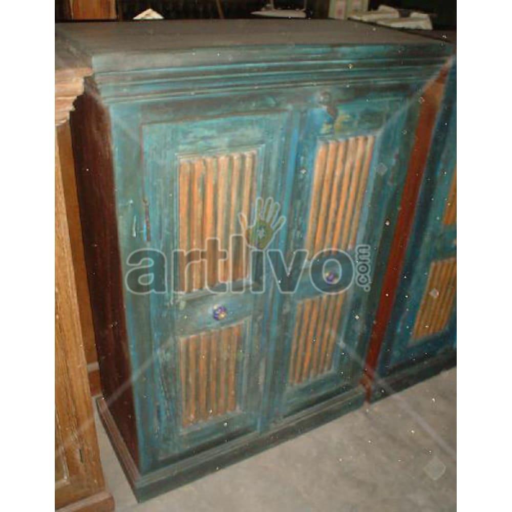 Antique Indian Sculptured stately Solid Wooden Teak Almirah