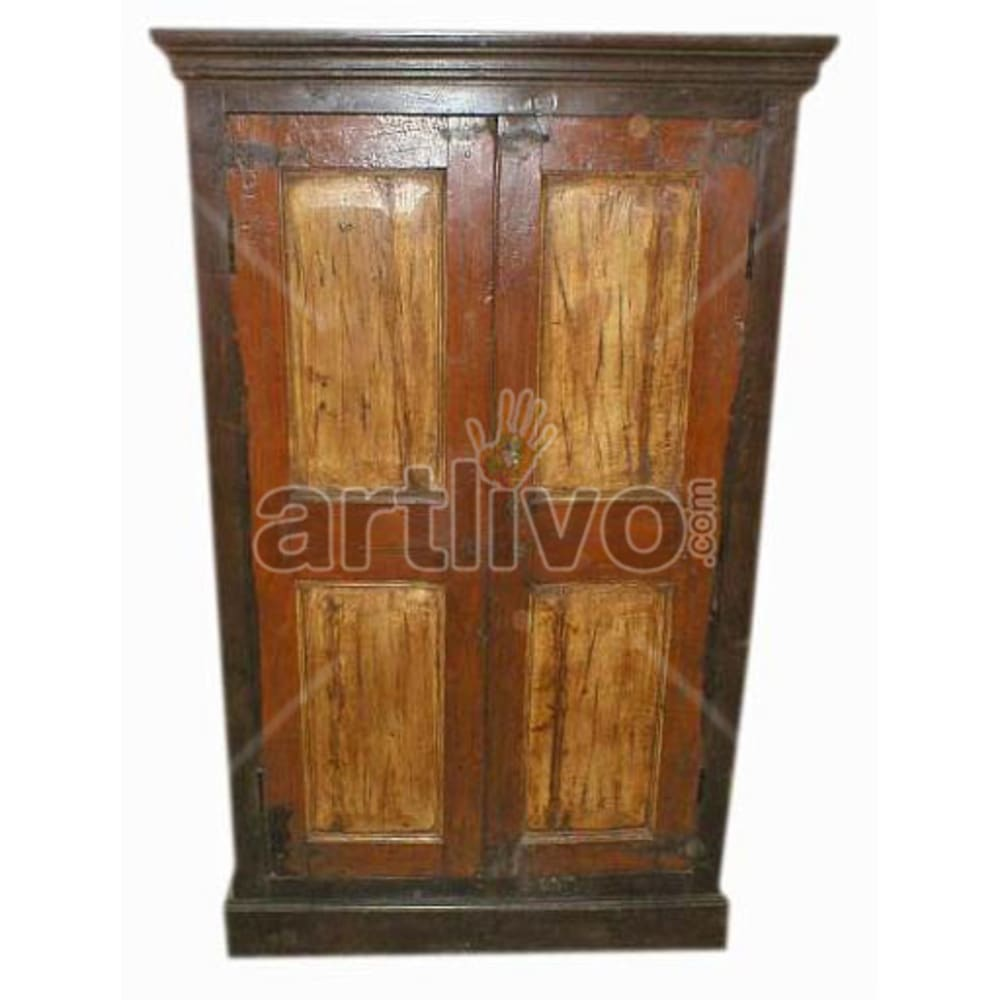 Antique Indian Sculptured Superb Solid Wooden Teak Almirah