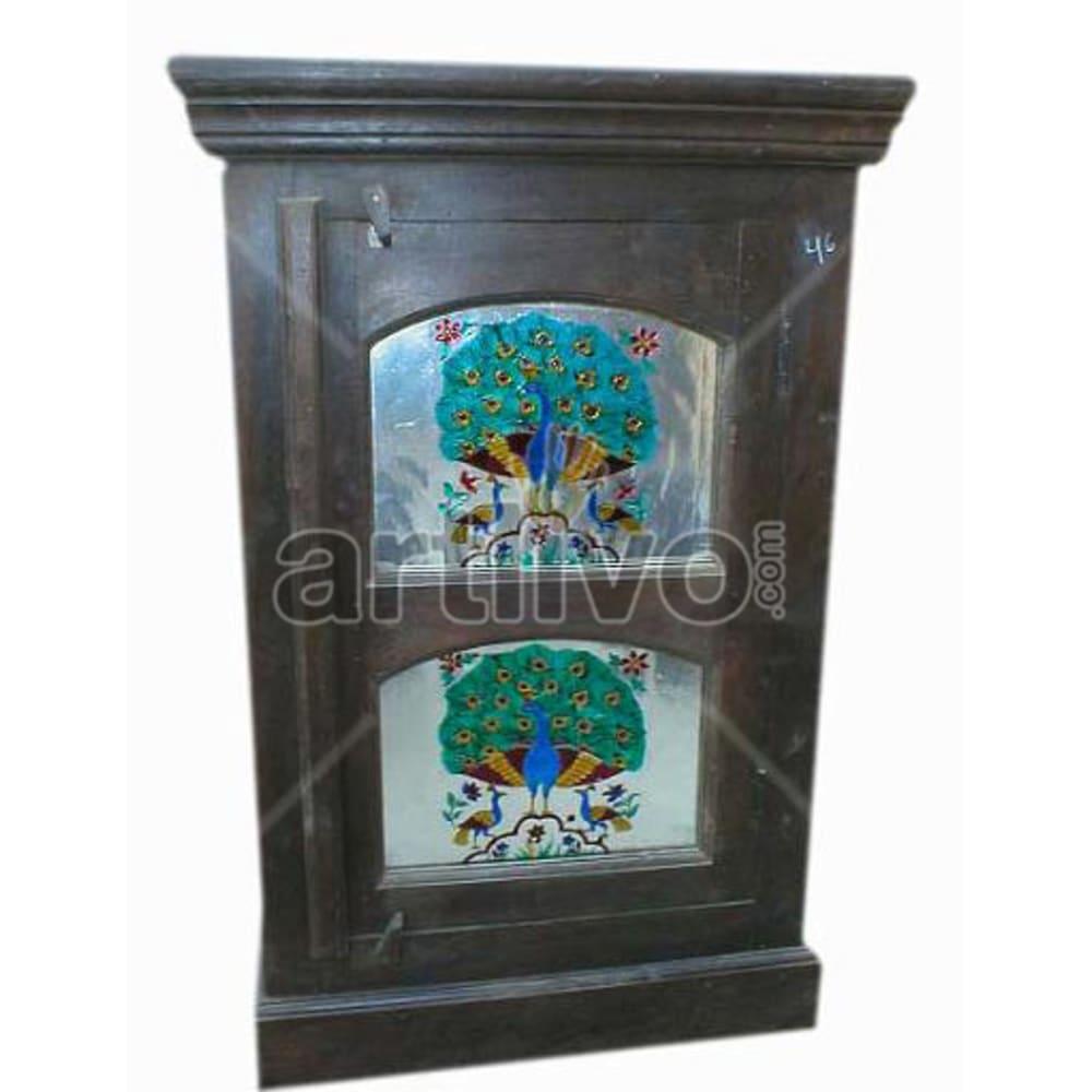 Antique Indian Beautiful Extravagant Solid Wooden Teak Almirah